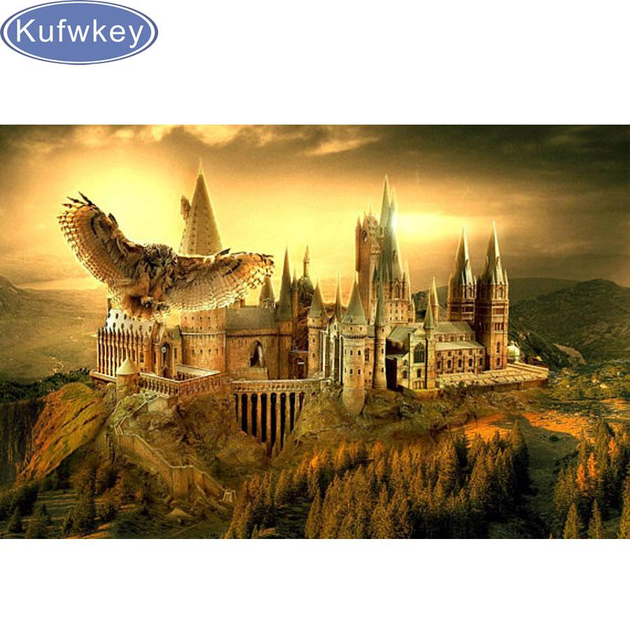 2018 Wholesale 5d Diamond Embroidery Mosaic Harry Potter School ...