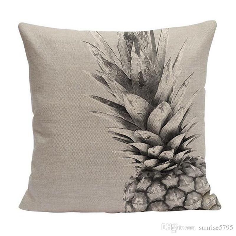 plant cactus cushion cover pineapple decor sofa couch throw pillow case modern ananas decoration fruit leaf almofada