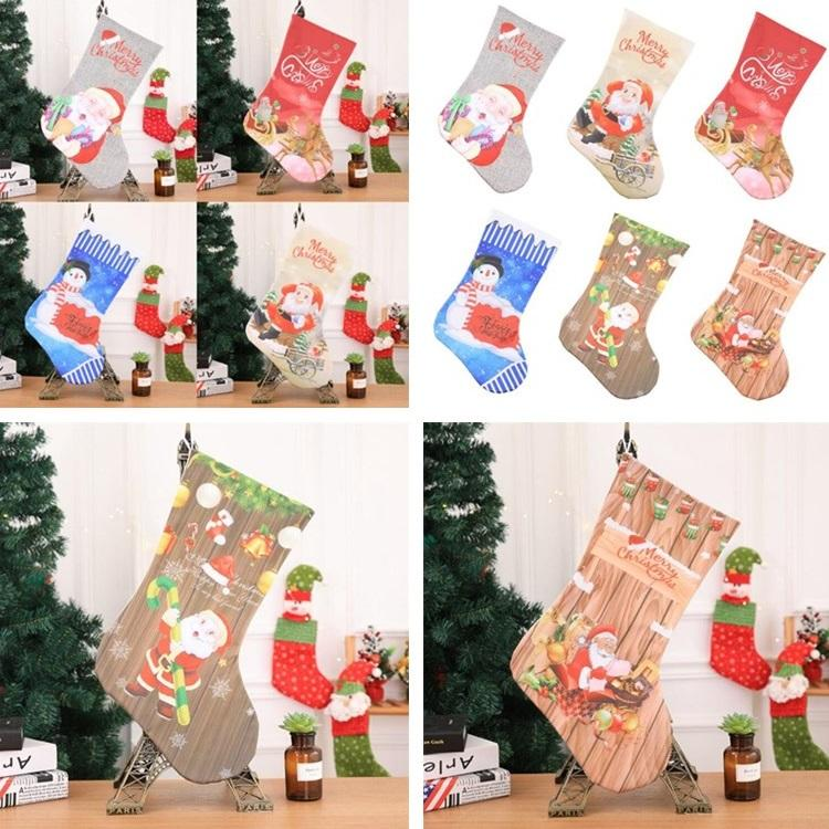 Hot Christmas Stockings Fireplace Decorations Christmas Products Hotels  Bars Parties Shopping Malls Pendants Christmas Socks T7I294
