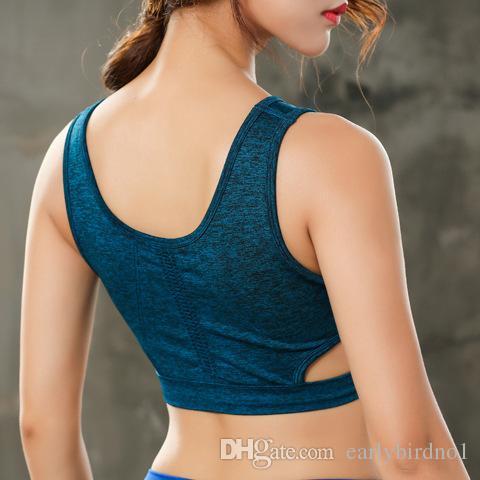2018 Yeni Kadın Spor Yoga Spor Sutyen Için Koşu Gym Yastıklı Tel ücretsiz Shake geçirmez Iç Çamaşırı Push Up Dikişsiz Spor Üst Bras cpa1342