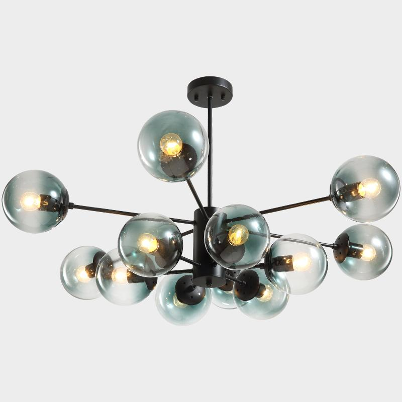 Modern Pendant Light Led Bulbs Bubble Glass Ball Lamp Magic Bean Hanging Lighting Chandelier Fixtures Ceiling Shades