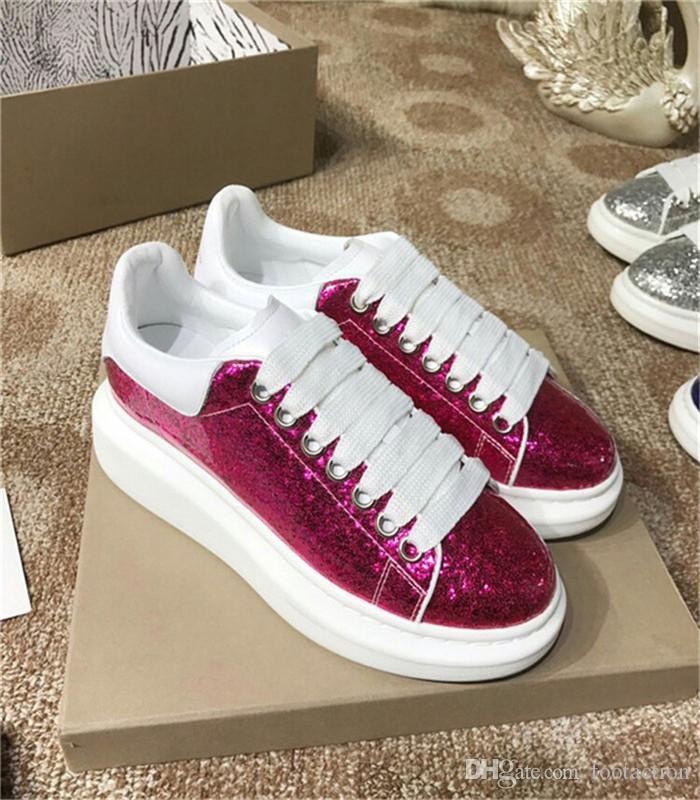 2018 designer de luxo homens sapatos casuais melhores de alta qualidade dos homens das mulheres bling ouro moda tênis sapatilhas athletic fitness sapatos casuais