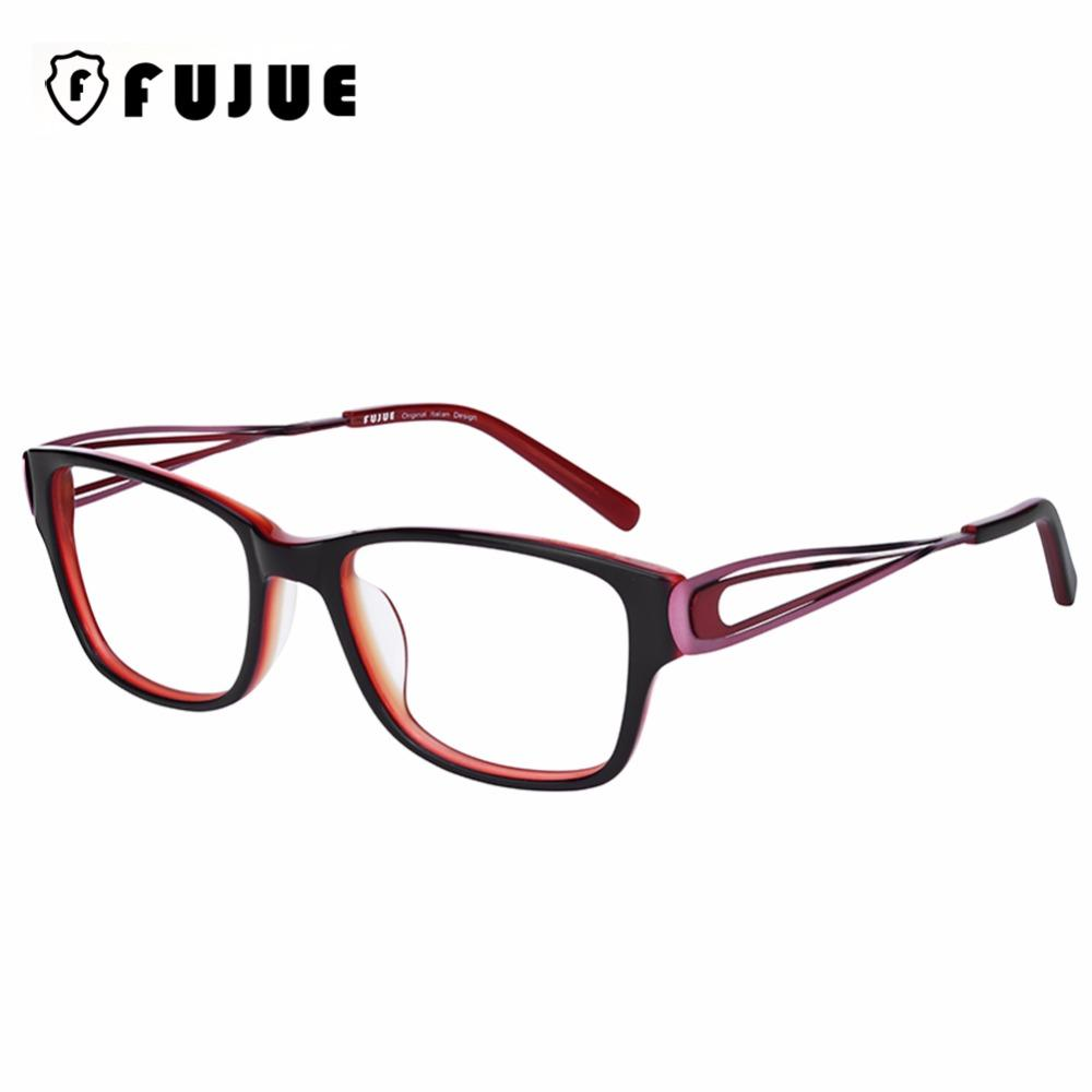 38e5f36b7b29 2019 FUJUE Acetate Eyewear Frame Women Optical Computer Reading Glasses  High Quality Eyeglasses Frame Myopia Spectacle Glasses FJ3009 From Haydena