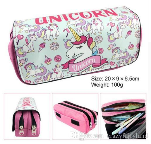 Home & Garden Novelty Korean Candy Color Pencil Case Pu Leather Home Office Storage Pencil Bag For Girl Children Stationery Supplies