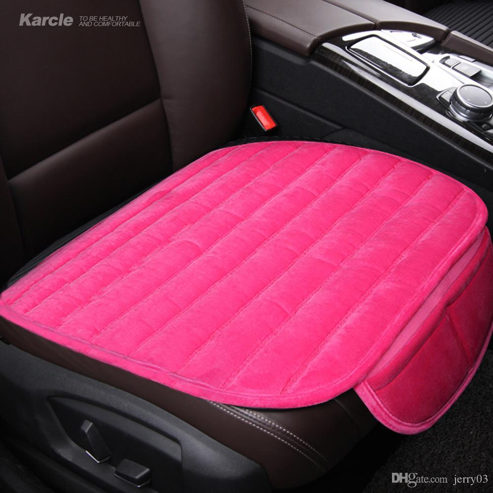 Karcle Universal Car Seat Covers Velvet Cushion Plush Seats Pad Protector Styling Automobiles Accessories Heated With