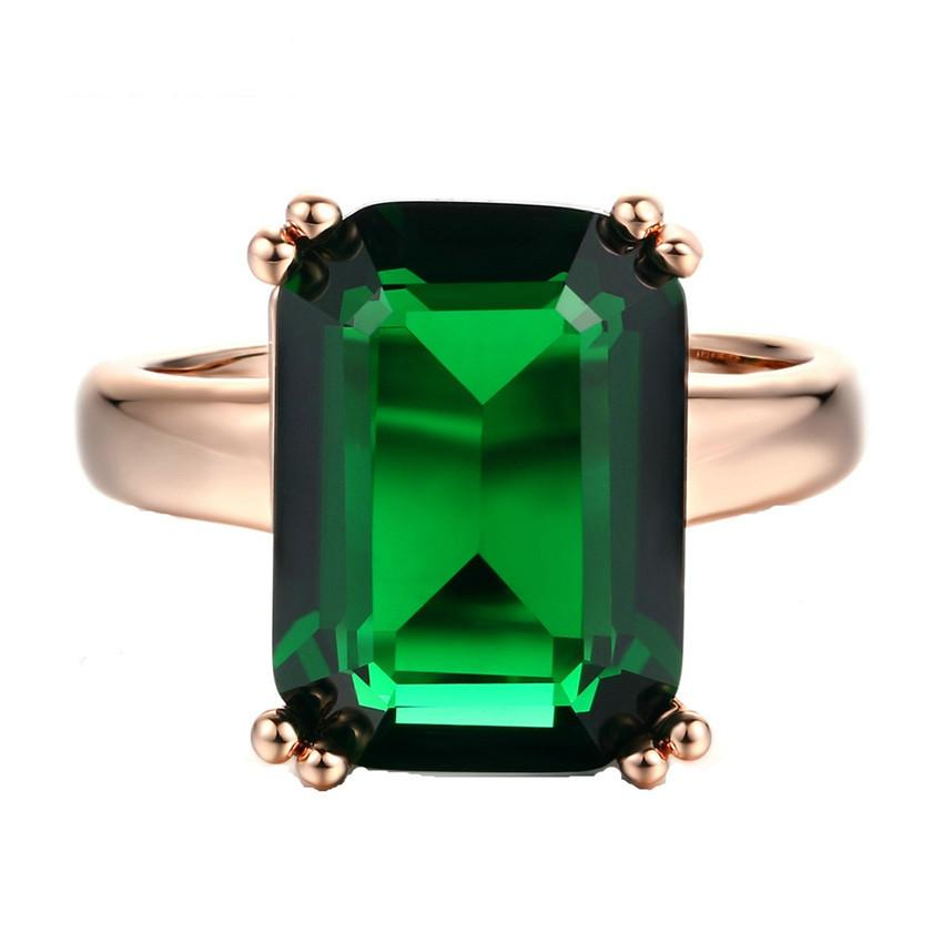 ded6f8c29 2019 Big Green Crystal Finger Rings For Women Fashion Jewelry ...