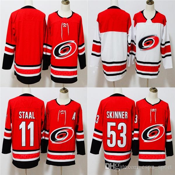07569c538 2019 Factory Outlet Mens Womens Kids Carolina Hurricanes Blank 11 Staal 53 Jeff  Skinner Red White Stitched Logos Ice Hockey Jerseys From Espn_sport, ...