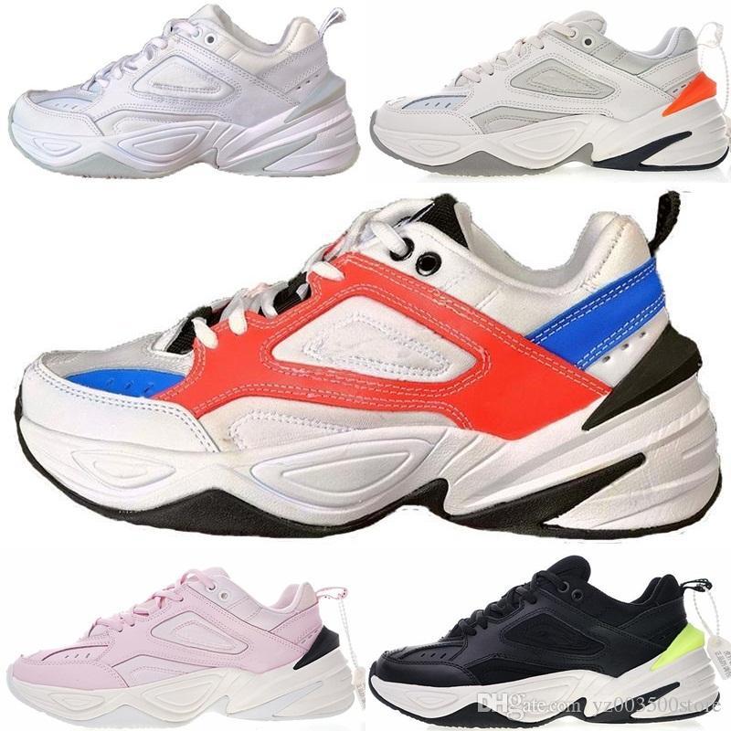official photos 05139 d09be Compre Nike Air Monarch The M2K Tekno 2018 Classic M2K Tekno Hot Dad Sports  Running Shoes De Calidad Superior Para Hombre De Moda Para Hombre  Zapatillas ...