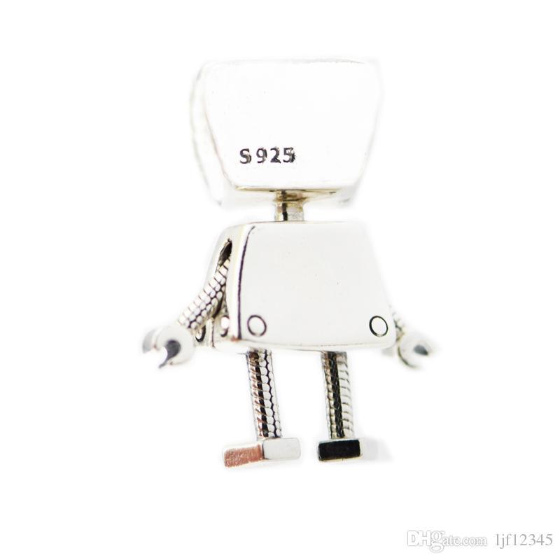 بيلا بوت سحر جميل فتاة روبوت الخرز للمرأة diy صنع المجوهرات الفضة سحر صالح الأصلي 925 الفضة سحر أساور الإسورة