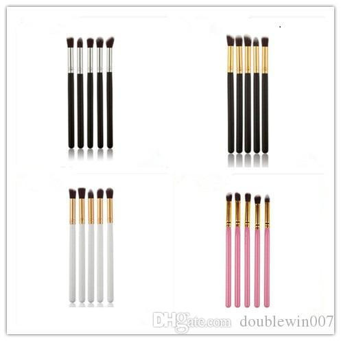 50set 5pcs Pro Makeup Eye Shadow Brushes Set Colors Make up Brushes Set Tools Cosmetics Soft Eyeshadow Brush Blending Pencil Brush in stock