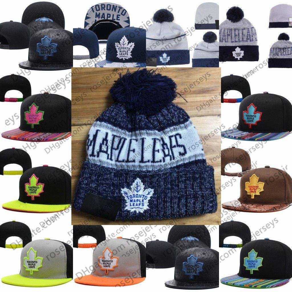 837d7b050561f1 Toronto Maple Leafs Ice Hockey Knit Beanies Embroidery Adjustable ...