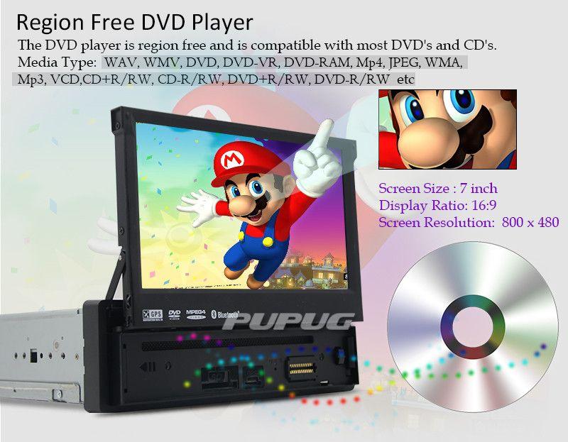 Feliz Día del Padre ! 7 '' single Din radio Audio coche Coche Reproductor de DVD Radio one din Navegación GPS Autoradio Estéreo Bluetooth PC DVD Automotivo