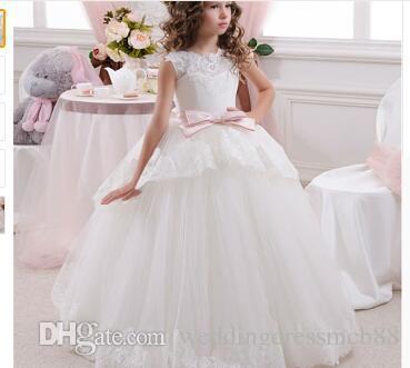 Princess Flower Girl Dress Summer 2017 Tutu Wedding Birthday Party Dresses  For Girls Children S Costume Teenager Prom Designs Pink Evening Dresses  Prom ... aff031ec353b