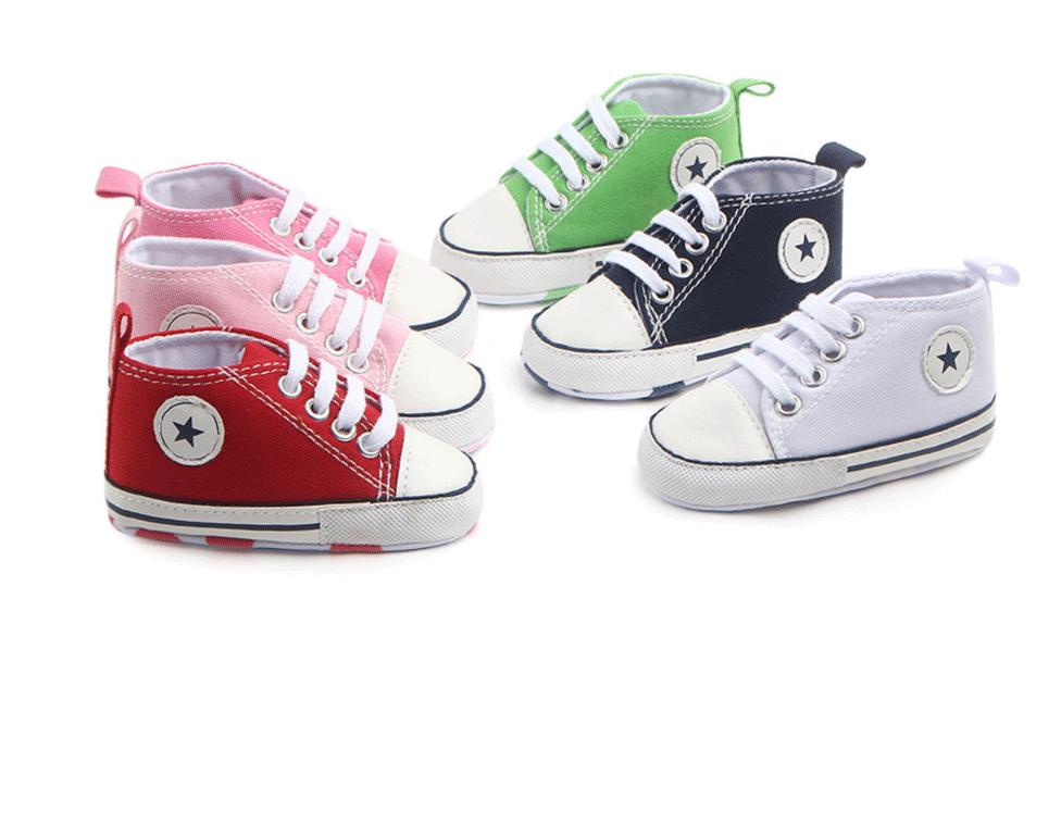 New Canvas Baby Sneaker Sport Shoes For Girls Boys Newborn Shoes ... b3982b3711e9