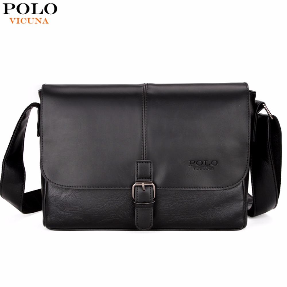 ed1d06851e VICUNA POLO Fashion Patchwork Cool Mens Shoulder Bag With Clasp High  Quality England Business Leather Mens Bags Crossbody Bag Ladies Handbags  Leather ...