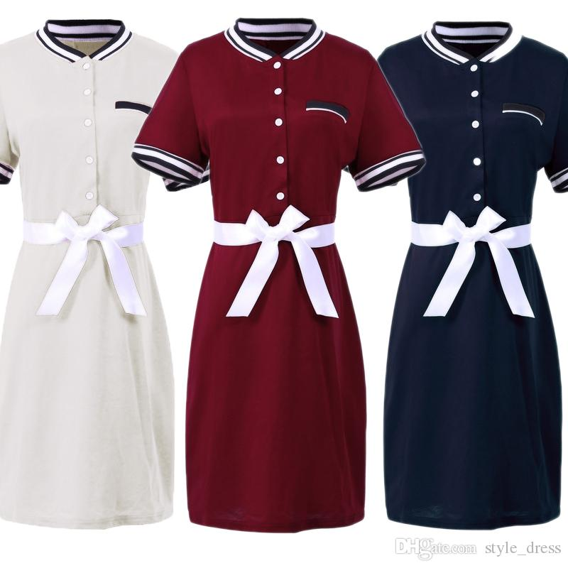 ba328fe939 2019 Plus Size Polo Shirt Dress Women Short Sleeve Bodycon Work Office  Pencil Party Dress From Style dress