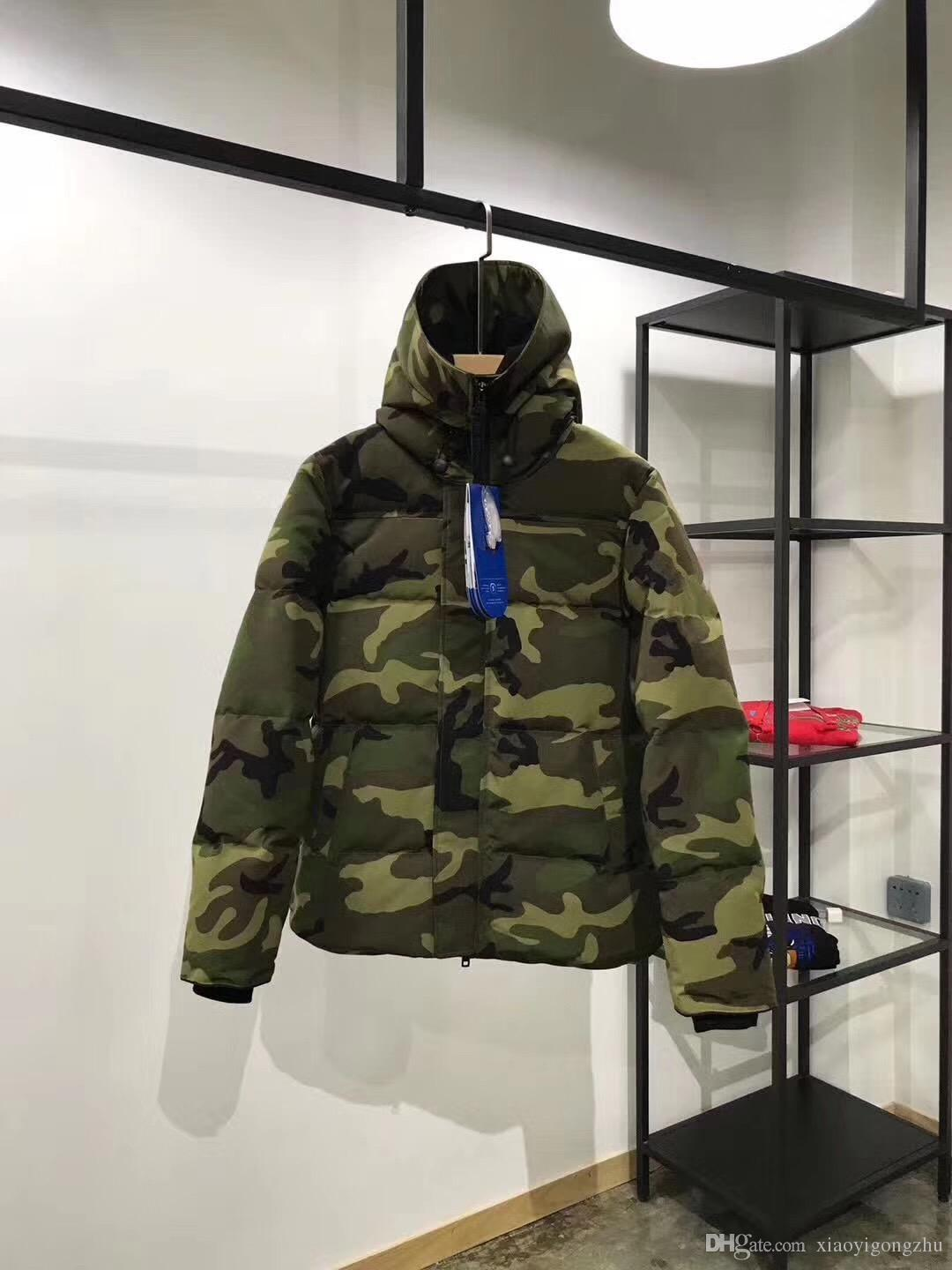 5a1ad6df9a8a 2019 Men Women Parkas WINTER CANADA Style Down Parkas WITH HOOD Male  Snowdome Jacket Brand White Duck Men S Outerwear   Coats Camouflage Lover  From ...