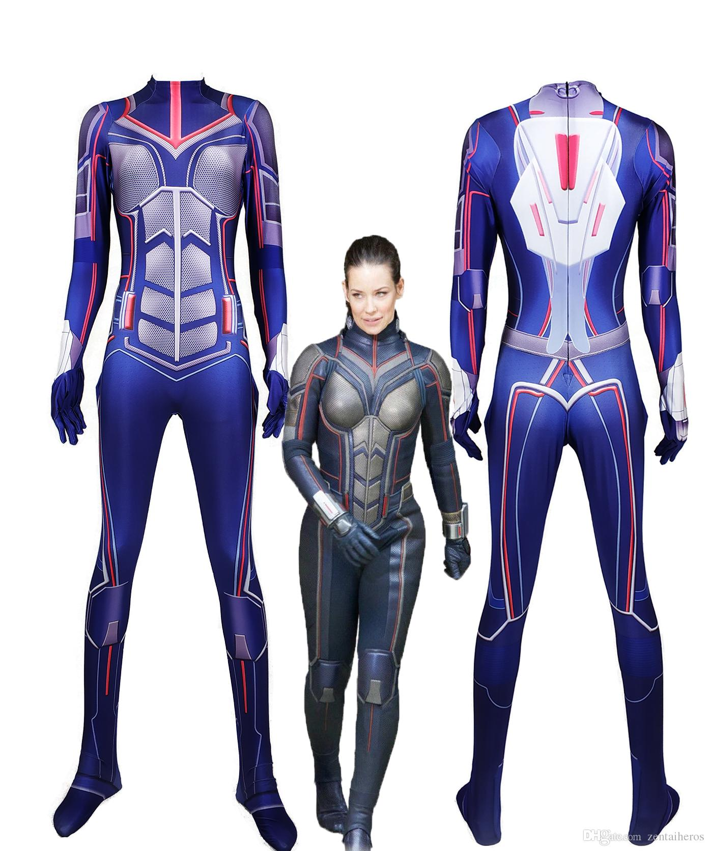 Costume Halloween Man.New Women Ant Man And The Wasp Cosplay Bodysuit 3d Imprimer Lycra Spandex Zentai Costume Halloween Party Suit
