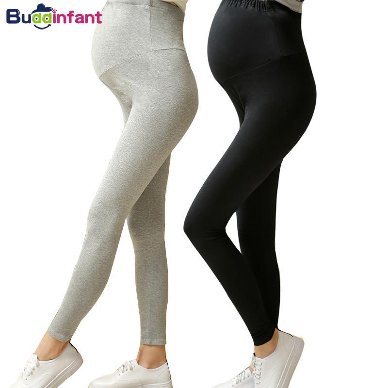 5897c93ba Compre Embarazo Pantalones De Maternidad De Cintura Alta Leggings Elásticos  Para Mujeres Embarazadas Pantalones Ajustados Ajustados Primavera Verano  Ropa A ...