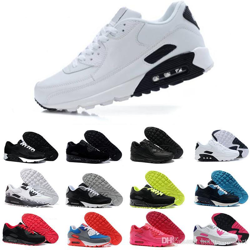 new arrivals b4f9c aeaaa Acheter Nike Air Max 90 Airmax 1 87 90 Hommes Sneakers Chaussures Classique  90 Hommes Et Femmes Chaussures De Course Noir Rouge Blanc Sport Entraîneur  Alr ...