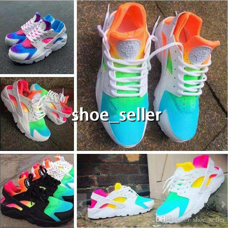 new products 5103e 99704 2018 New Air Huarache Ultra Running Shoes Huaraches Rainbow Hurache Breathe  Shoes Men Women Huraches Zapatos Trainers Sneakers Size 36 46 Latest Shoes  Top ...