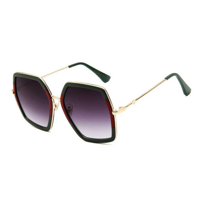 6c786edfd9f Square Sun Glasses Brand Designer Ladies Oversized Crystal ...