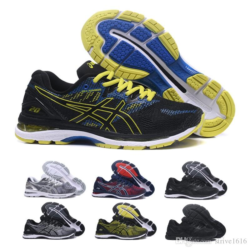 2019 Asics Gel-Nimbus 20 Men Running Shoes Black Grey Blue Original Cheap Jogging Sneakers Designer Sports Shoes Size 40-45