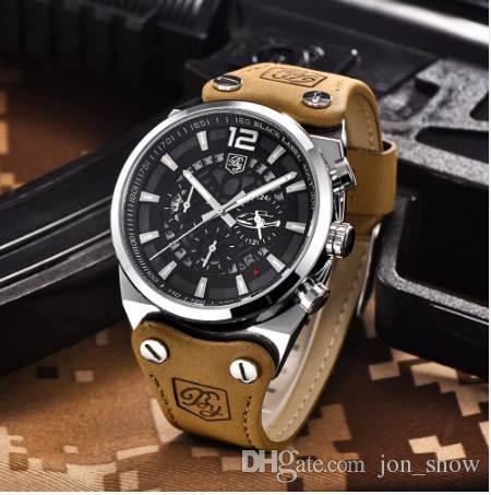 4a804948acf Compre BENYAR Esporte Homens Relógios Esqueleto Cronógrafo Militar De Quartzo  Homem Ao Ar Livre Grande Mostrador Do Relógio Do Exército Masculino Relógio  ...
