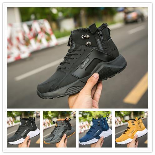 brand new 24fde 38528 Großhandel Huarache 6,0 Designer Schuhe Sneakers Reißverschluss Samt Schwarz  Weiß Herren Laufschuhe Damen Trainer Athletic Wandern Joggen Outdoor ...