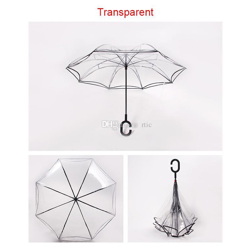 Nouveau Transparent Clair Parapluie Danse Performance Longue Parapluies Coloré Parapluie Plage Pour Hommes Femmes Enfants Enfants Parapluies