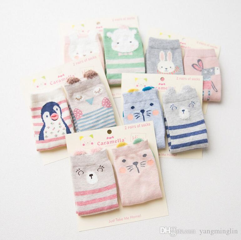 39b10e050 Spring Autumn Winter Baby Cartoon Cotton Socks Boys Girls Newborn ...