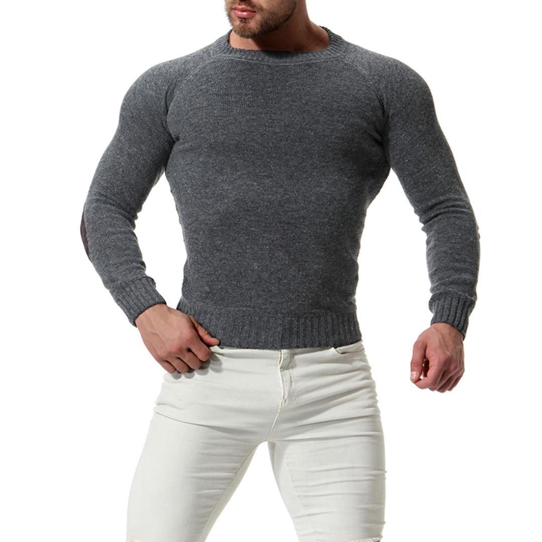 watch ebe9f 34a7c 2018 Herbst Winter Wollpullover Männer gute Qualität Langarm Herren  Pullover Pullover slim fit