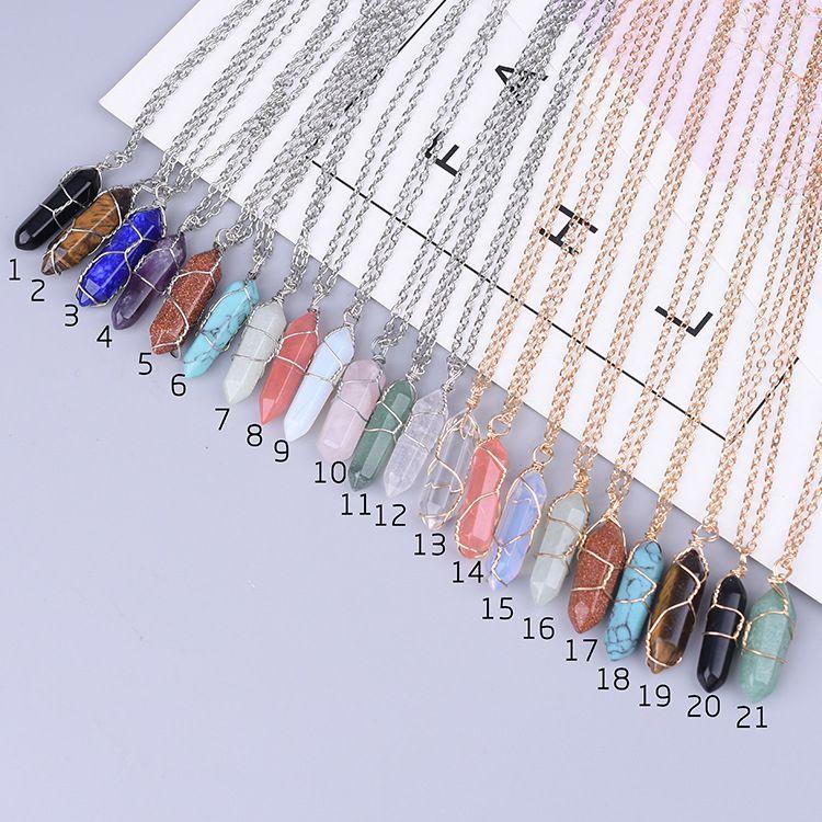 Heart-shaped stone pendant turquoise crystal heart natural stone necklace wholesale kendra scott designer jewelry designer bracelet chain