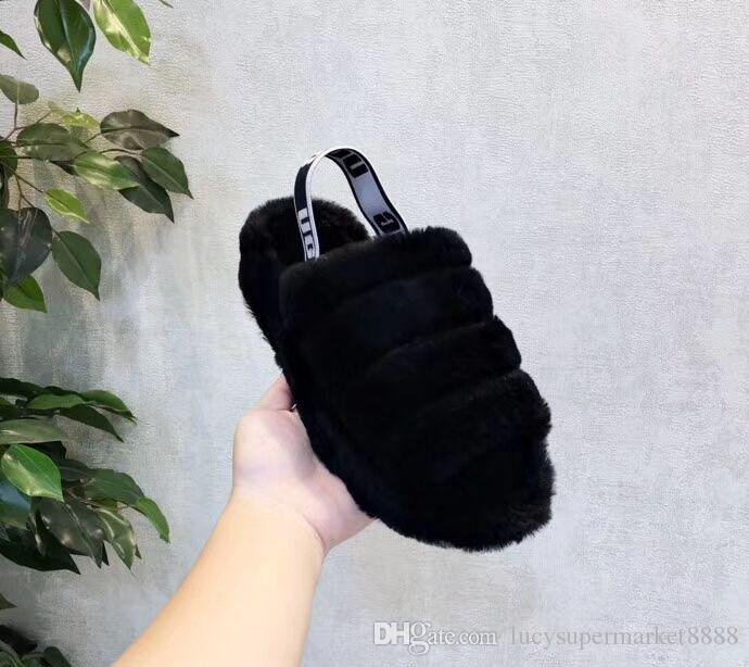 6bcc64871d8 2019 hot WOMEN Australia Fluff Yeah Slide designer luxury brand casual  shoes boots wgg women s shoes autumn and winter explosions US5-10