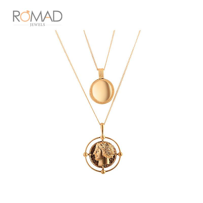 2019 Vintage Carved Coin Necklace For Women Gold Color Medallion Necklace  Multiple Layers Pendant Long Necklaces Boho Jewelry Z3 From Chuancai fbc68c5d49