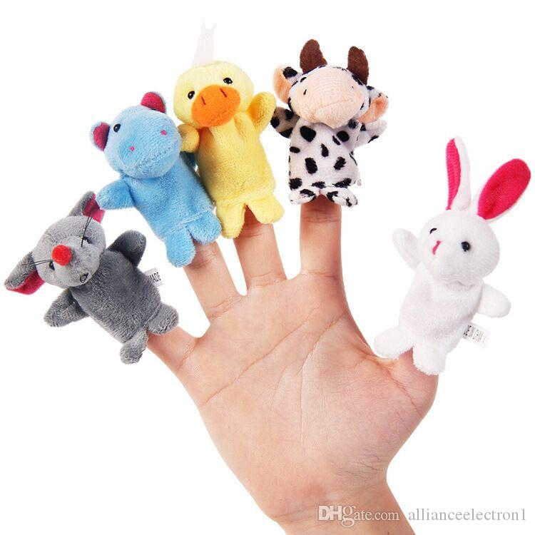 Animal Puppet Baby Plush Toy Finger Puppets Talking Props 10 animal group Children 's educational toys hands puppet