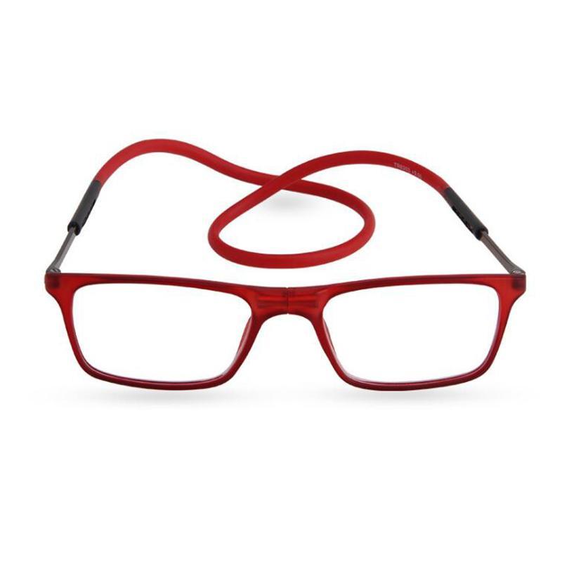 dfa8f38589 Compre Diseñador De La Marca Gafas De Lectura Magnéticas Hombres Mujeres  Gafas De Lectura Imán Plegables Gafas Magnéticas De Cuello Halter A $25.22  Del ...