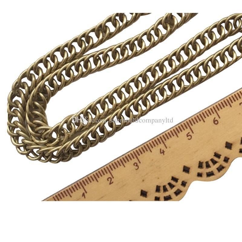 Commercio all'ingrosso 120 centimetri di alta qualità Cinghia di cinghia cinghie donne borsa della borsa della borsa della sostituzione del messaggero cinghie metalliche Accessori Maniglia della catena dell'hardware