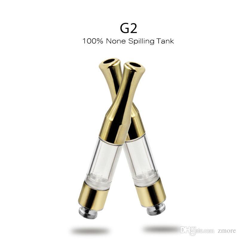 G2 CE3 510 خرطوشة vape خزان 0.5 ملليلتر القطن لفائف الذهب معدن البلاستيك نصائح بالتنقيط الشمع النفط المرذاذ الأسهم dhl