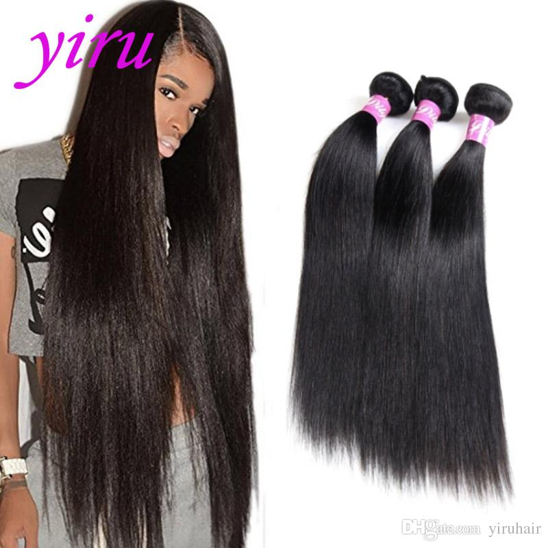 Brazilian Virgin Human Hair 3 Bundles 30 40inch Long Inch Straight