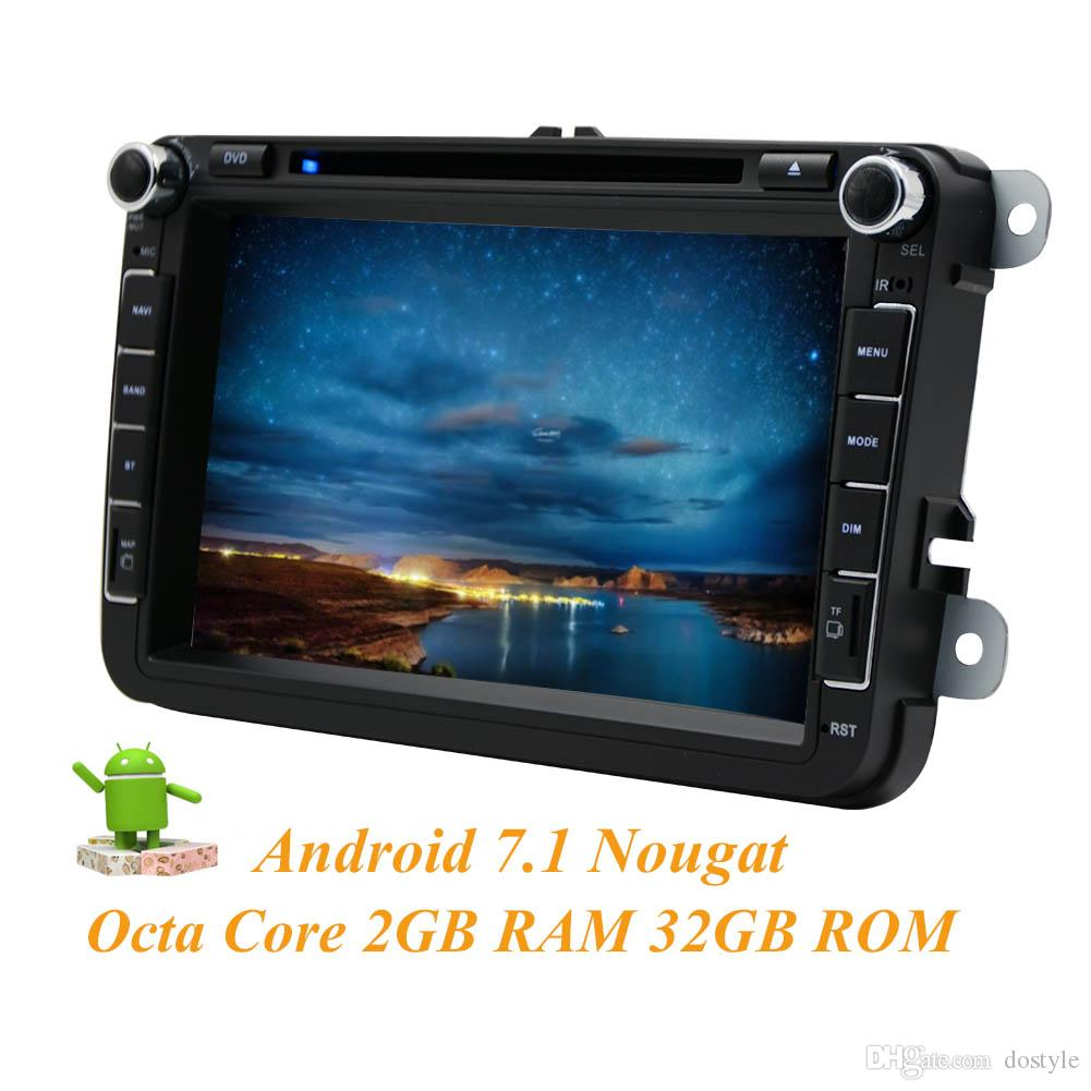 "Andorid 7.1 CAR DVD Player Multimedia Player Double 2Din In Dash Octa Core 2GB+32GB GPS Navigation Bluetooth Head Unit 8"" Car Radio"