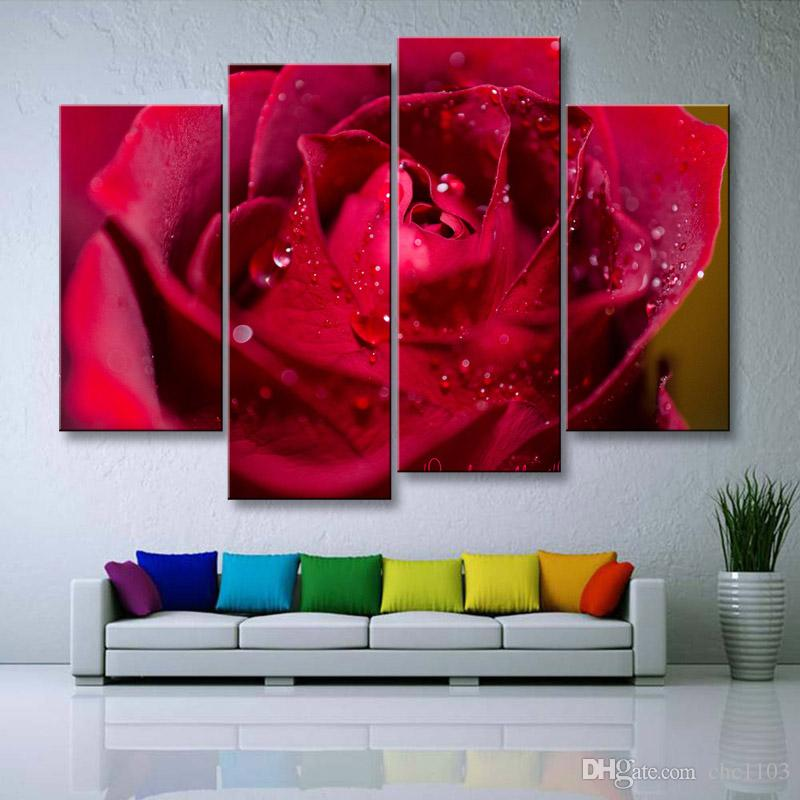 painting & calligraphy print Rose canvas poster wall art living room restaurant Bedroom Decorative paintings MGE4-001