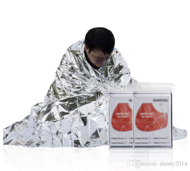 factory price outdoor Life-saving Emergency survival Blanket Rescue thermal Insulation Curtain Blanket Silver waterproof sleeping pads