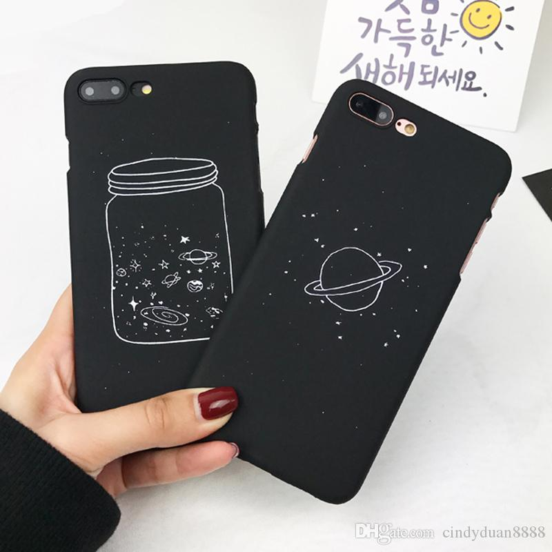 for iphone case cute cartoon wishing bottle planet moon phone casefor iphone case cute cartoon wishing bottle planet moon phone case for iphone 7 6 6s plus fashion starry sky back cover silicone cell phone cases ballistic