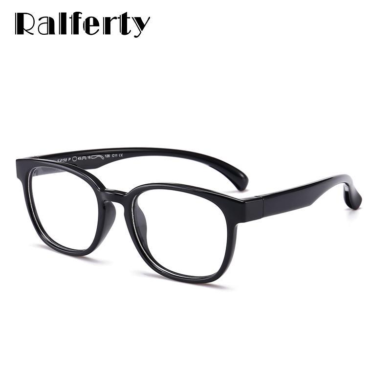 8616c6ef2e Ralferty 2018 Kids Unbreakable Flexible Square Eyeglass Frame Square ...