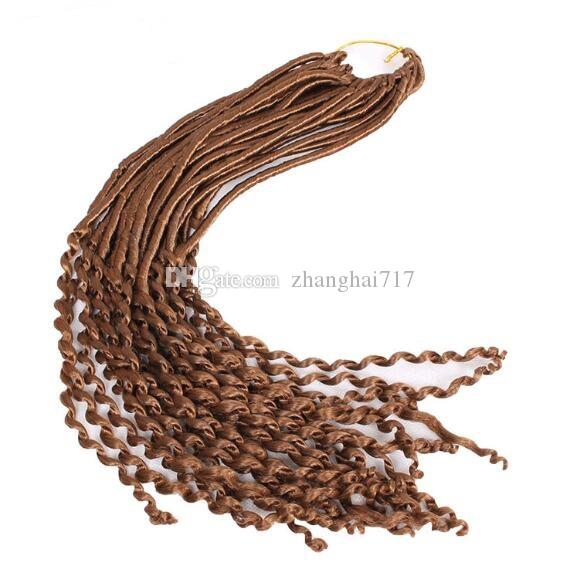 6-7 packs For Full Head Crochet Braid hair extensions Faux Locs curly Hair 22 inch 24 strands/pack Eunice Synthetic Braiding Hair