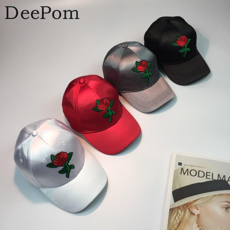 83f4b7827470a Deepom Fashion Roses Men Women Baseball Caps Spring Summer Sun Hats For Women  Solid Snapback Cap Wholesale Dad Hat 2018 New Hot Snapback Caps Fitted Hats  ...