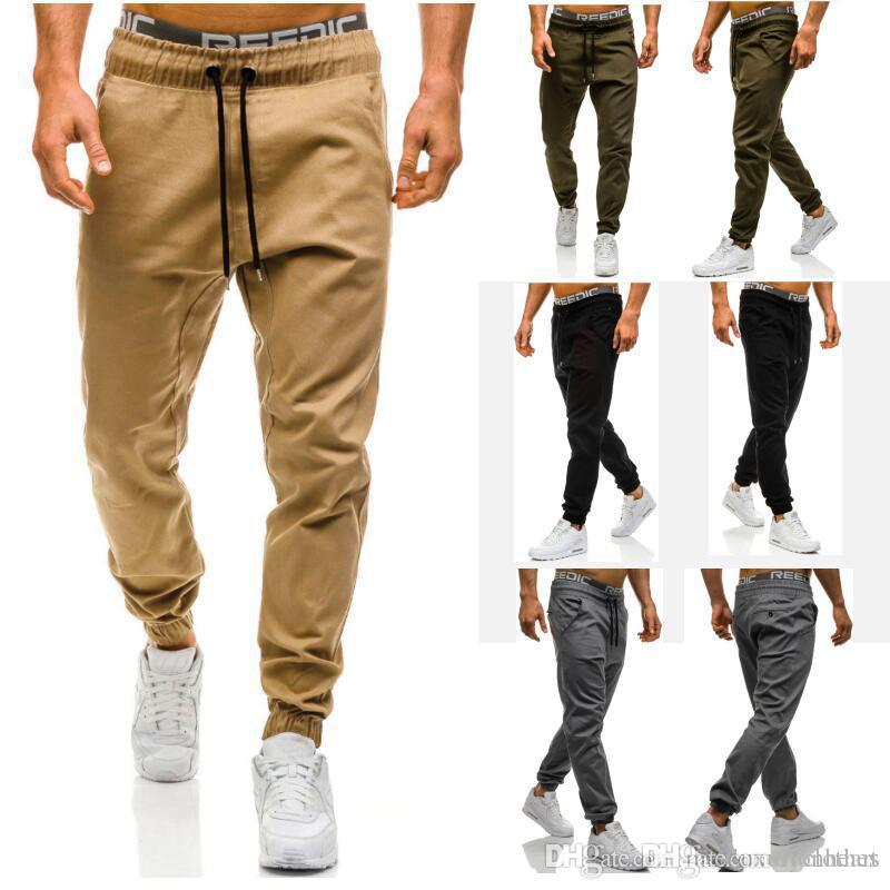 455fada8e9f577 2019 Mens Athletic Elastic Waist Pants Solid Color Pantlones Designer Joggers  Sweatpants Clothing For Men Track Pants From Lionheart