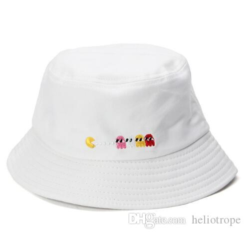 aeb329c2ec891 Cute Print Pattern Bucket Hats For Women Outdoor Sun Hat Fishing Man Spring  Summer Casual Flat Hip Pop Cap Trilby Mens Hats From Heliotrope