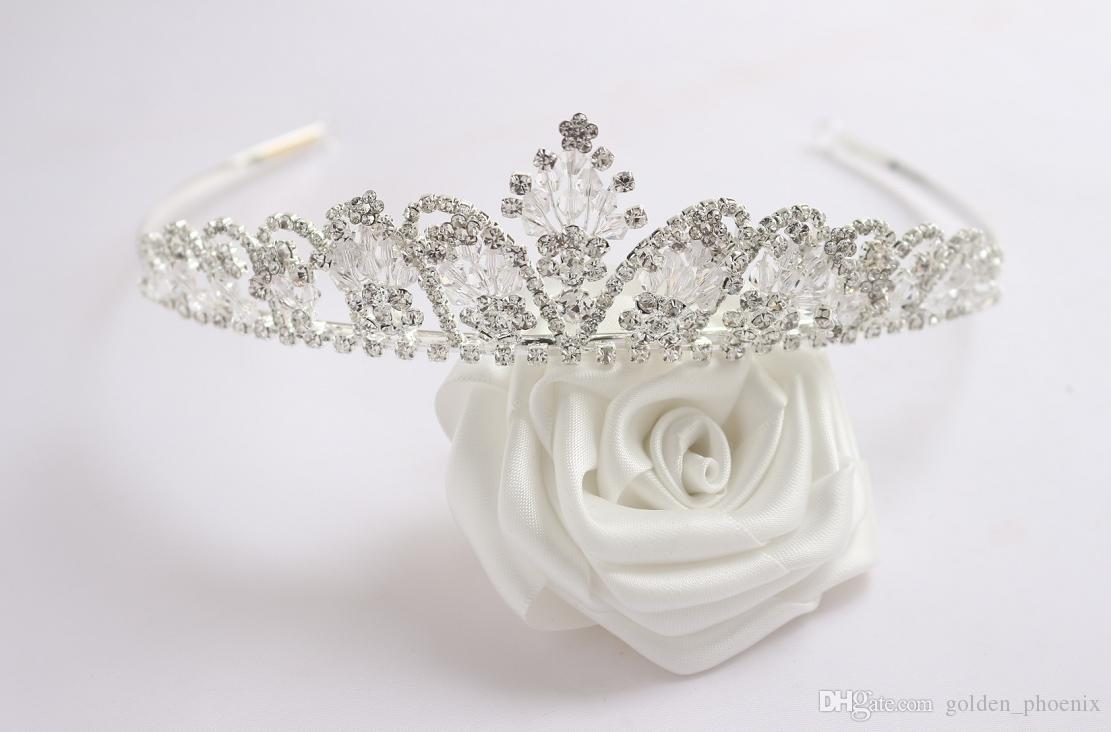 Bride Wedding Crown Accessories Rhinestone Crystal Wedding Crown Tiara Hair Band Bridal Cosmetics